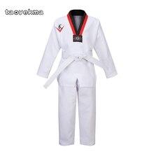 Высокое качество WTF mooto тхэквондо добок одежда Детский Взрослый Костюм для каратэ форма таэквондо Одежда для карате T01
