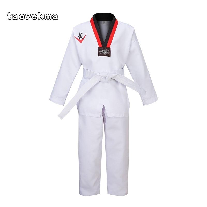 Hohe Qualität WTF Mooto Taekwondo Dobok Kleidung Kinder Erwachsene Karate Anzug Taekwondo Uniform Karate Kleidung T01