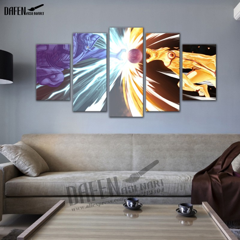 Naruto 5 Piece canvas Wall Art