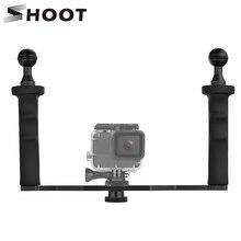 تبادل لاطلاق النار مثبت بها بنفسك مثبت يدوي ل GoPro بطل 7 6 5 4 3 + SJCAM SJ4000 SJ7 شاومي يي 4K استقرار ل نيكون DSLR كاميرا قبة ميناء
