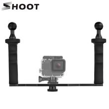 SHOOT DIY Handheld Stabilizer for GoPro Hero 7 6 5 4 3+ SJCAM SJ4000 SJ7 Xiaomi Yi 4K Stabilizer for Nikon DSLR Camera Dome Port