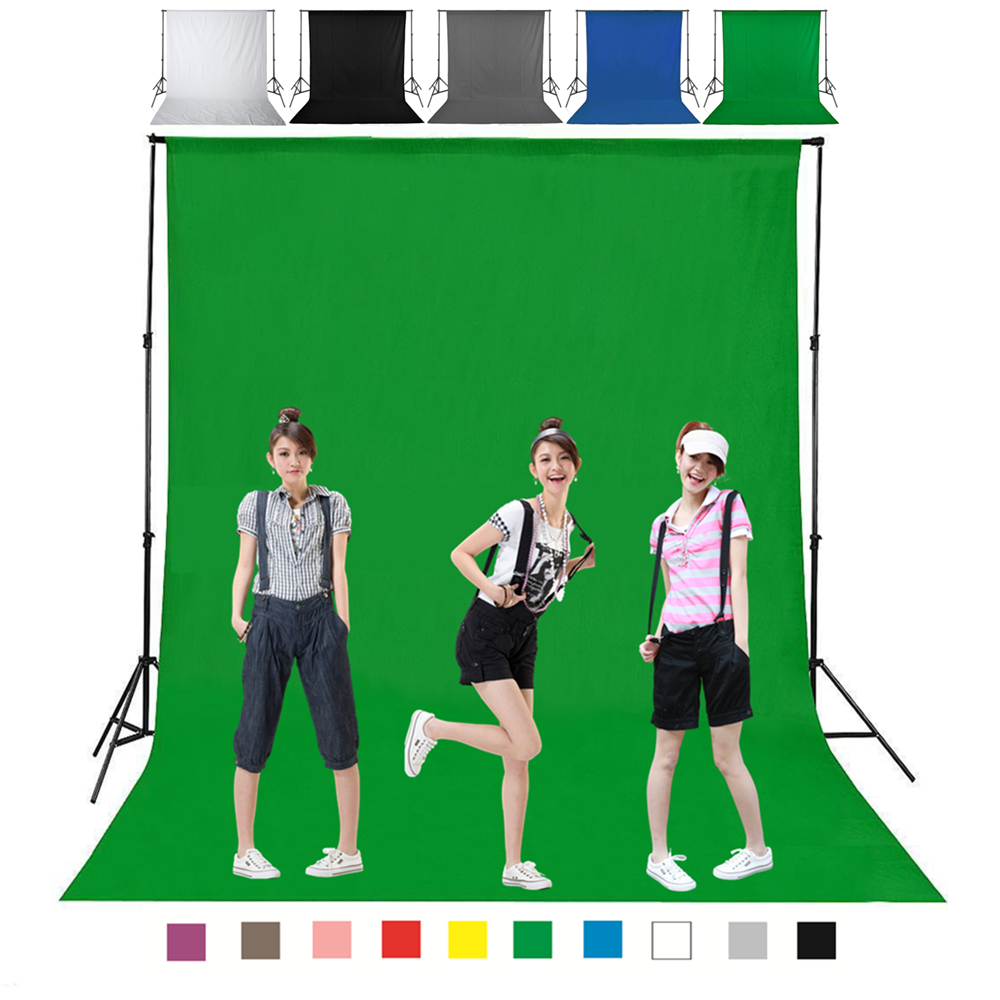 1.6X4M 3 2m Green Color Cotton Non-pollutant Textile Muslin Photo Backgrounds Studio Photography Screen Chromakey Backdrop Cloth(China)