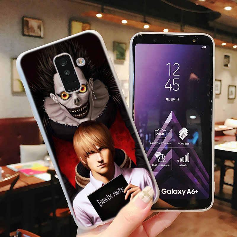 シリコーン電話ケースアニメデスノートサムスンギャラクシー A8S A6S A9 A8 スター A7 A6 A5 A3 プラス 2018 2017 2016 カバー