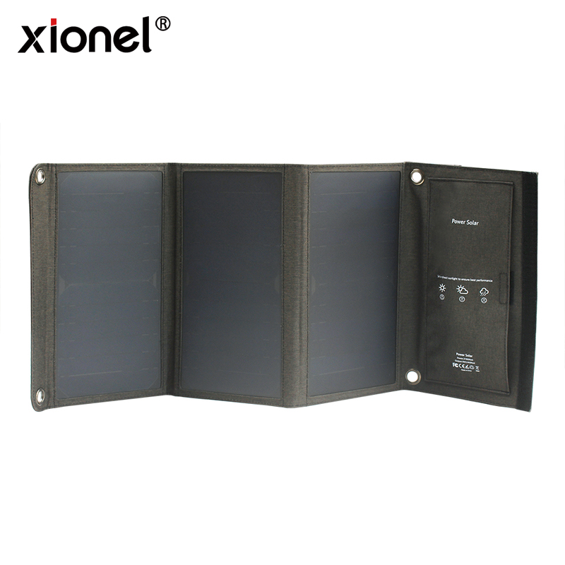 Xionel 21W Folding Solar Panel Phone Charger Sunpower Solar Panel With USB Port for for iPhone, iPad,Samsung All 5V USB Devices 7w folding solar panel charger for mobile phone camera more camouflage