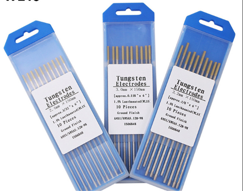 """10pc TIG Welding WT20 Tungsten Electrode 2/% Thoriated 2.0 x 150mm 5//64/"""" x 6/""""Red"""