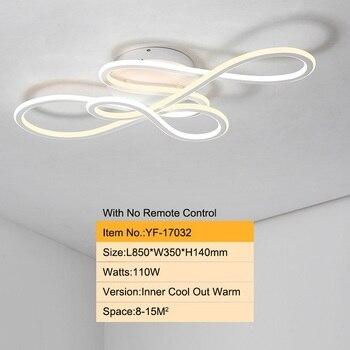 Double Glow modern led Chandelier for living room bedroom lamparas de techo dimming ceiling chandeliers lamp fixtures 11