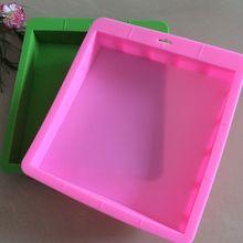 PRZY mydło wyrabiane ręcznie formy 3kg kwadratowy silikonowy bochenek mydło formy Diy silikonowe do mydła formy gumy silikonowej ekologiczne