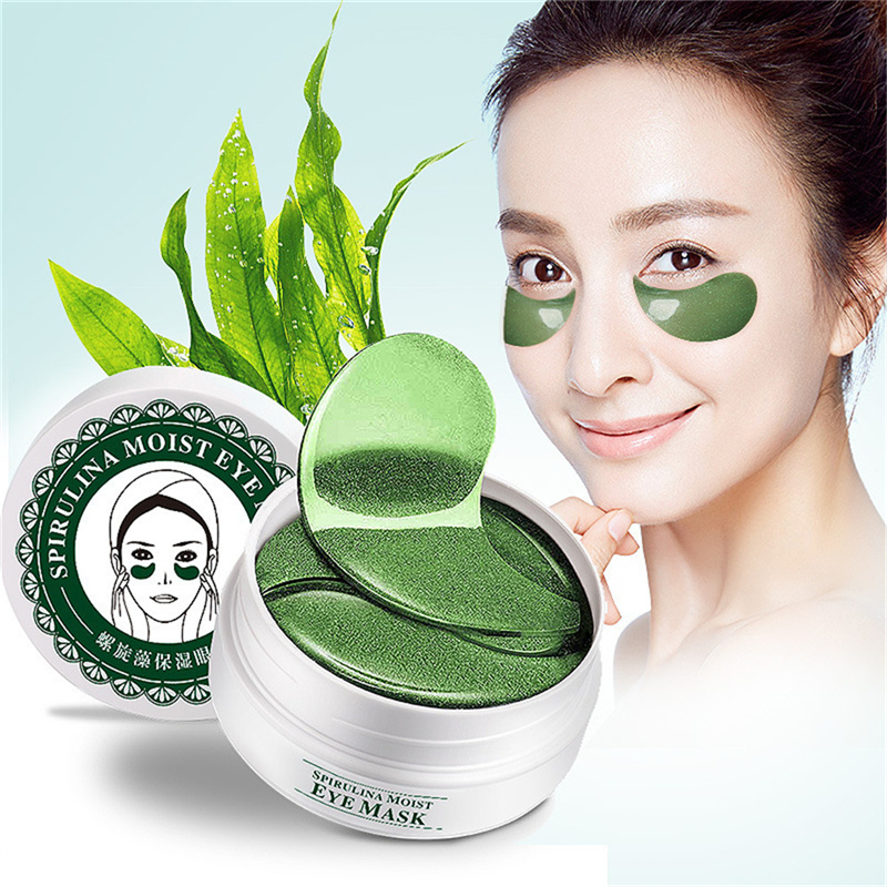 все цены на 60pcs Moisturizing Firming Collagen Crystal Seaweed Eye Mask Gel Whitening Remover Dark Circles Eye Patches Eyes Skin Care