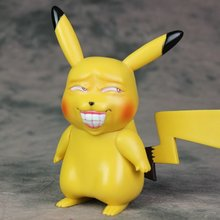 Japanese Anime Cartoon Cute Detective Pikachu Vinyl Action Figure Collection Toys For Children Birthday Gift 1 1 anime pokemon pokeball random action figure game model kaiwaii pikachu doll birthday gift children kids collection pet toys
