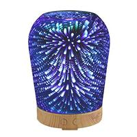 Aromatherapy Oil Diffuser 100mL 3D Essential Ultrasonic Aroma Cool Mist Humidifier With 7 Color Night Light