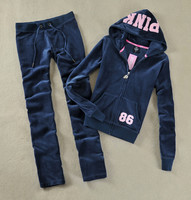 2019 Women's Yoga Set Fitness Clothing Velvet Fabric Tracksuits Velour Suit Outdoor Sports Woman Gym Running Set Sportwear