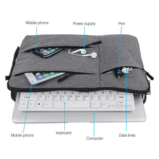 Laptop Bag For Macbook Air Pro Retina 11 12 13 14 15 15.6 inch Laptop Sleeve Case PC Tablet Case Cover for Xiaomi Air HP Dell 3