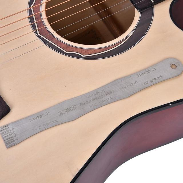 Guitar Fretboard Radius Gauge Steel Ruler Guitar Neck Kit Setup