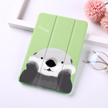Cartoon PU leather Case for fundas iPad air 10.5 Frosted Back Flip Cover for iPad Air 1/2/3 Stand Protected Tablet Case