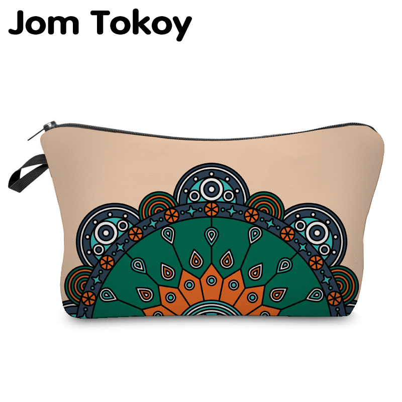 Jom Tokoy 2018 Cosmetic Organizer Bag Make Up 3D Printing Cosmetic Bag Fashion Women Brand Makeup Bag Hzb909 unicorn 3d printing fashion makeup bag maleta de maquiagem cosmetic bag necessaire bags organizer party neceser maquillaje