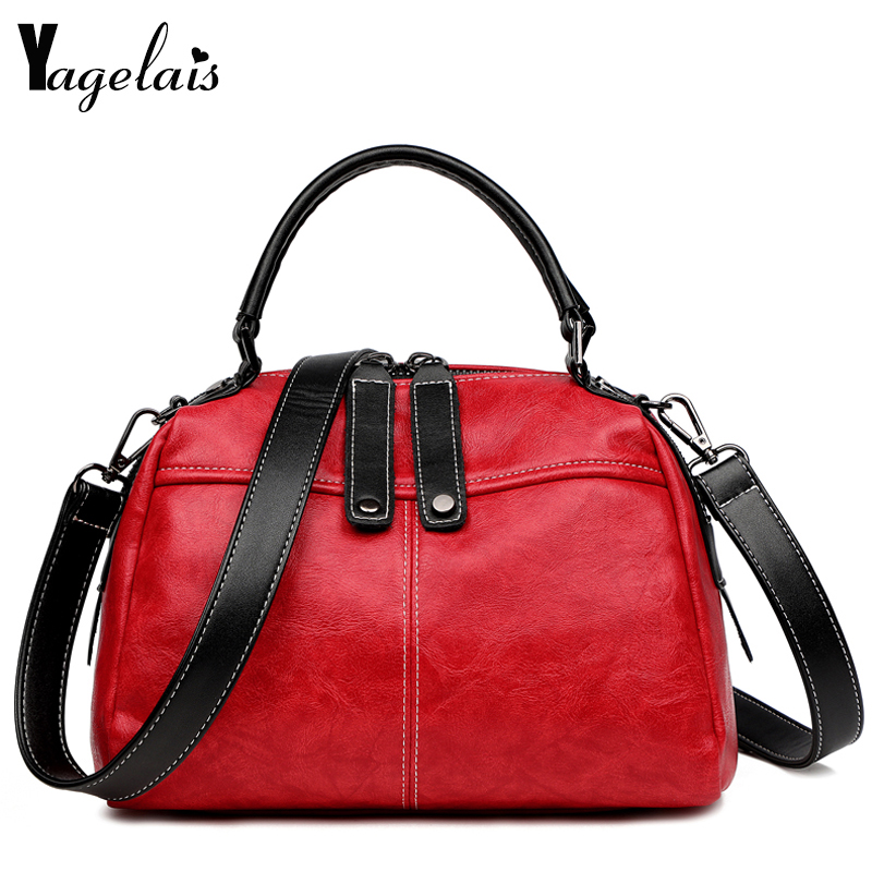 2019 Women's Fashion brand Leather Simple Handbag Small Shoulder Crossbody Bags for Ladies Messenger New Trend Simple Flap bags
