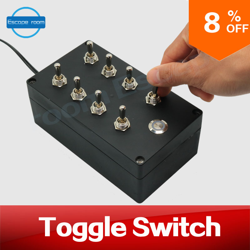 12V Escape room props Toggle Switch adjust toggles to correct position to unlock chamber room prop real life room escape game