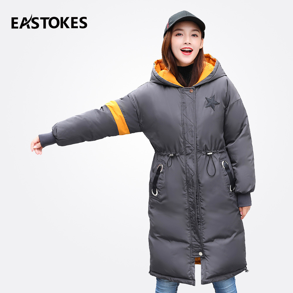 Reversible Coats Women Winter Hooded Jackets Fashion Adjustable Waist Parkas Female Jackets Ladies Down Parkas Quilted Outfits