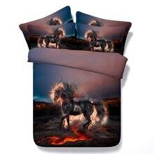 3D Hellfire Horse Bedding Set Duvet Cover Set Pillowcases Home Textile Bedclothes Comforter Bedding Sets Comforters bed linen стоимость