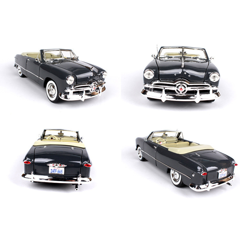 1:18 Ford 1949 Convertible Vintage Classic Car Blue/Black Zinc Alloy Car Model Gifts Toys  Collections Brinquedos norev 1 43 507 classic vintage car model removable roof alloy car models favorite model
