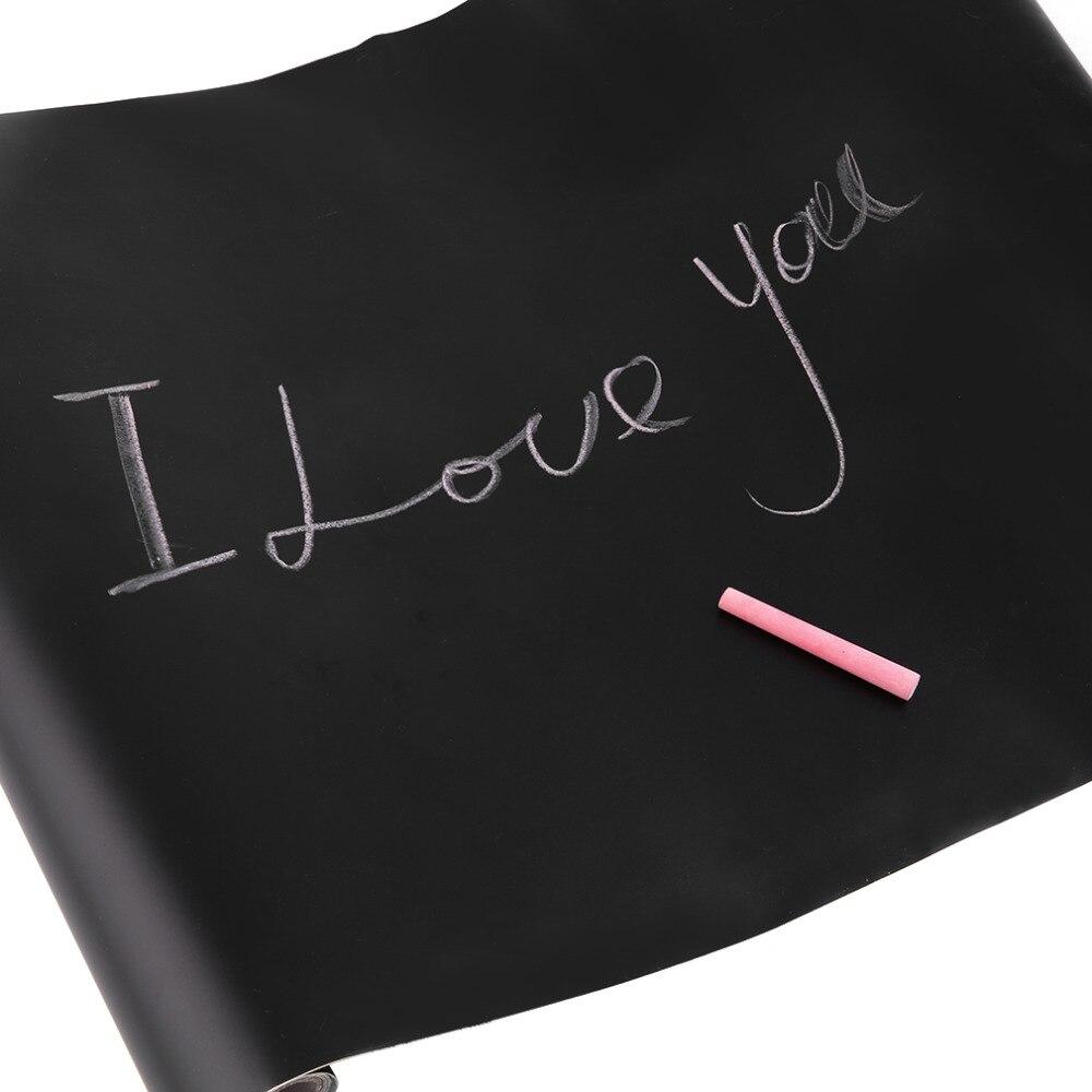 NOUVEAU 45 CM X 200 CM Adhésif Blackboard Film Vinyl Tirage Décor Peint Craie Conseil Bâton Rouleau Conseil Chalk Blackboard autocollants pour enfants