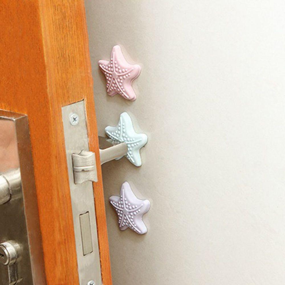 3*Adhesive Rubber Doorstops Wall Door Handle Mounted Protectors Crash Pad Buffer ...