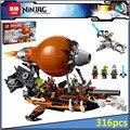 Lepin 06029 Compatible Legoe Ninjagoes Raid Zeppelin 70603 Ladrillos de Construcción Ninja Figura Juguetes Para Los Niños