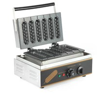 2018 commercial professional muffin hot dog machine/220V lolly waffle maker/muffin machine/snack machine with high quality