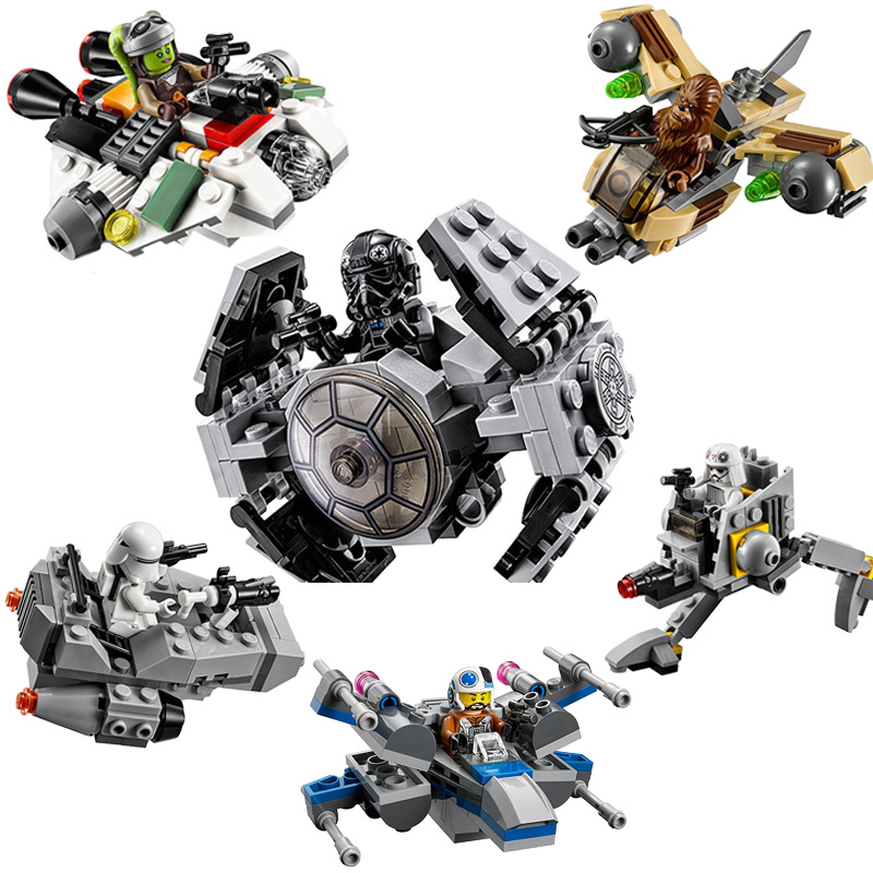 Single Sale 2018 Star Space Wars Microfighters Building Blocks Set Starwars Micro Planes Bricks Blocks Toys leGoINGly blocks single sale star wars superhero marvel avengers assassin s creed firenze building blocks model bricks toys for children