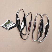 Free Shipping High Quality ABS Chrome Door Handles Protect Door Handle Bowl Cover For Toyota Levin/Corolla high quality chrome tail light cover for toyota corolla 2011 free shipping brand new