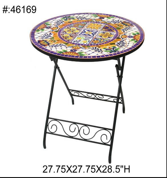 Outdoor Chess Tables Folding Table Leisure Table Roundtable Exports,  Mediterranean Style Hand Painted