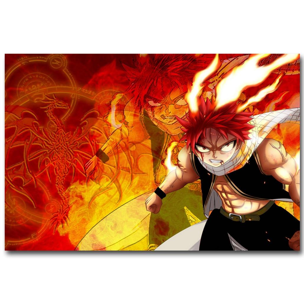"Fairy Tail Characters Anime Art Silk Poster Print 13x20"" 24x36"" Natsu Erza 002"