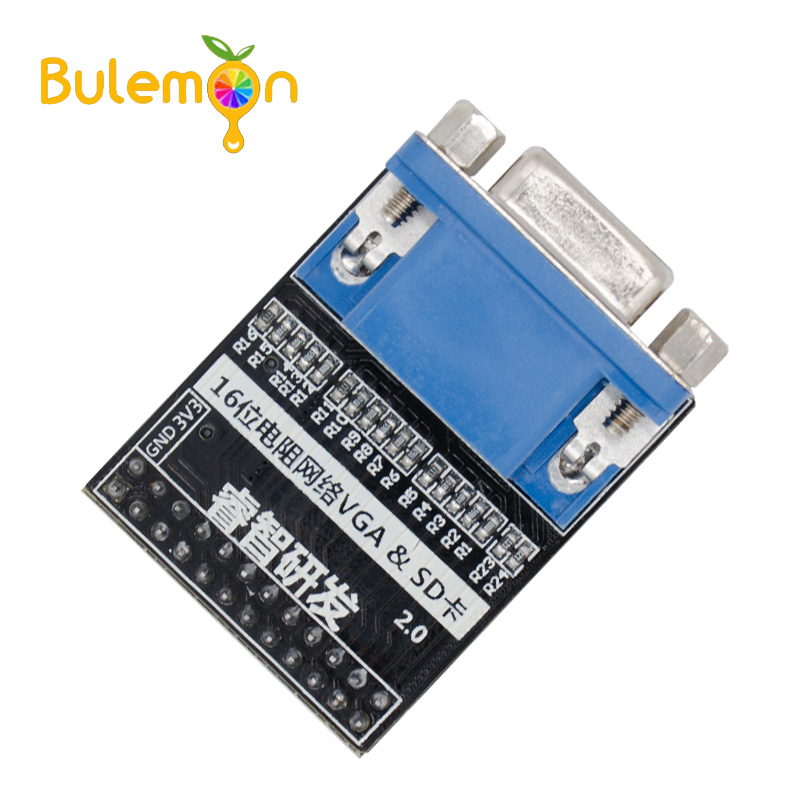 VGA módulo 16 poco Color 65536 tarjeta SD de la imagen de vídeo Módulo de adquisición para Altera FPGA Placa de núcleo Ata011