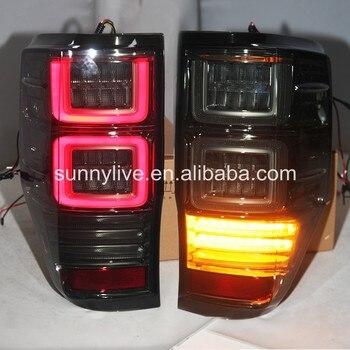 For FORD Ranger Everest LED Tail Light 2012-2017 Smoke Black