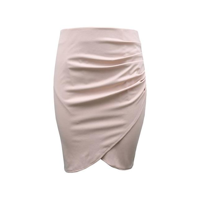 New Split Vintage Mini Bodycon Skirt High Waist Women Pencil Skirt Solid Elegant Lady OL Office Skirts For Female XS-XXL 2