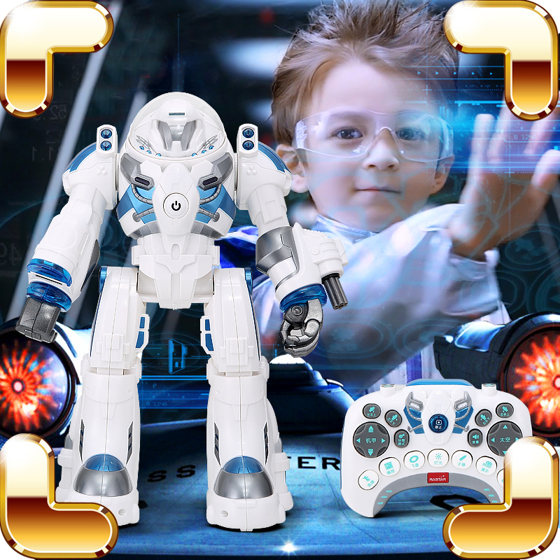 New Arrival Gift RS RC Robot Remote Control Toys Machine Intelligence Dance Walk Figure Toy LED Radio Control Weapon Present otto for arduino for nano rc robot open source maker obstacle avoidance walk dance diy humanity playmate 3d toys assemble models