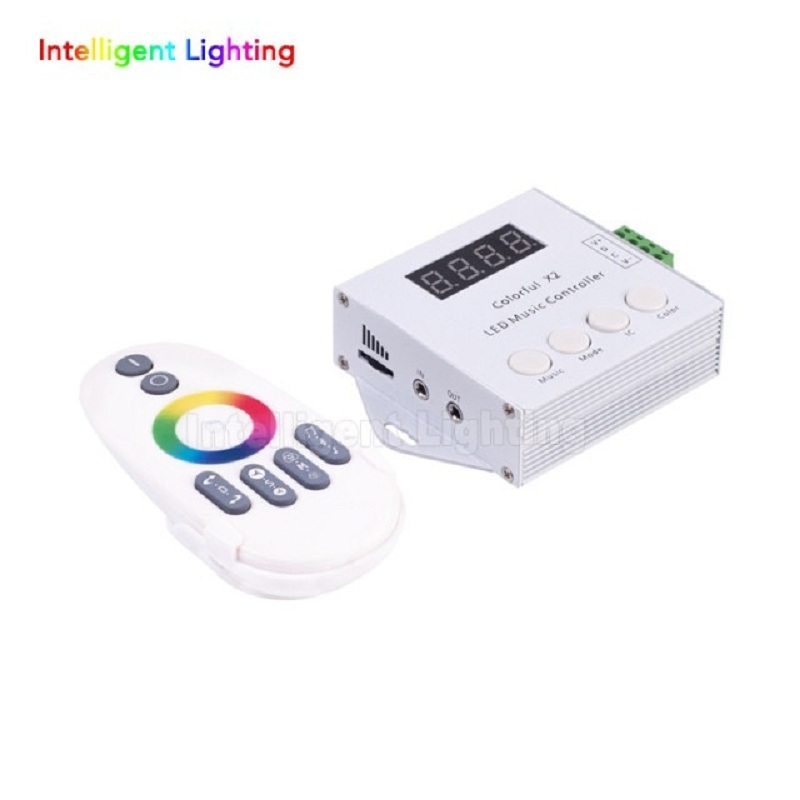 music controller x2 with RF touch remote FOR WS2811/WS2812B/USC1903 LED Strip;DC5-24V input;can control max 1000pixels