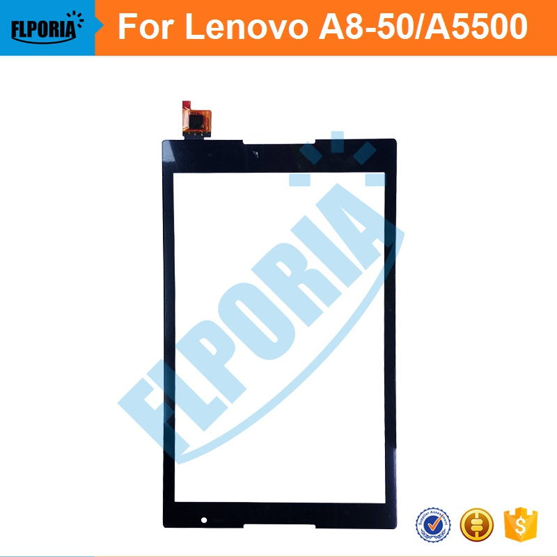 Tablet Touch Panel 8'' Inch For Lenovo a8-50/a5500 Touch Screen Digitizer Front Glass with Flex Cable Assembly 100% New new 8 inch case for lenovo ideatab a8 50 a5500 a5500 h lcd display touch screen digitizer glass sensor panel replacement
