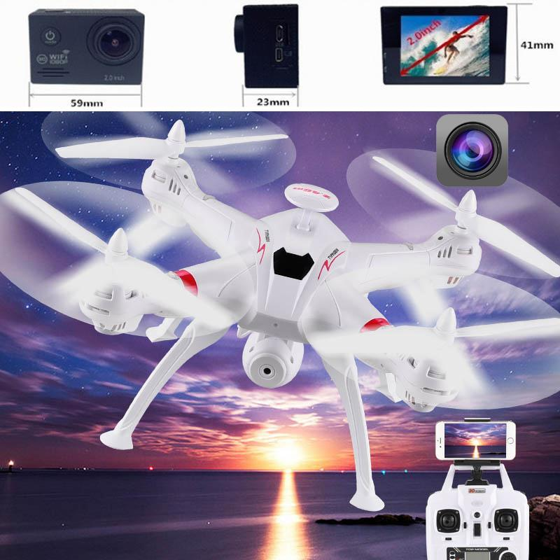 Headless Mode Drone 2.4GHZ RC Quadcopter Brushless Drone FPV Camera HD 1080 Headless Mode Drone wltoys q353 aeroamphibious rc drone air land sea mode 3 in 1 waterproof headless mode 2 4g led quadcopter headless mode toys rtf