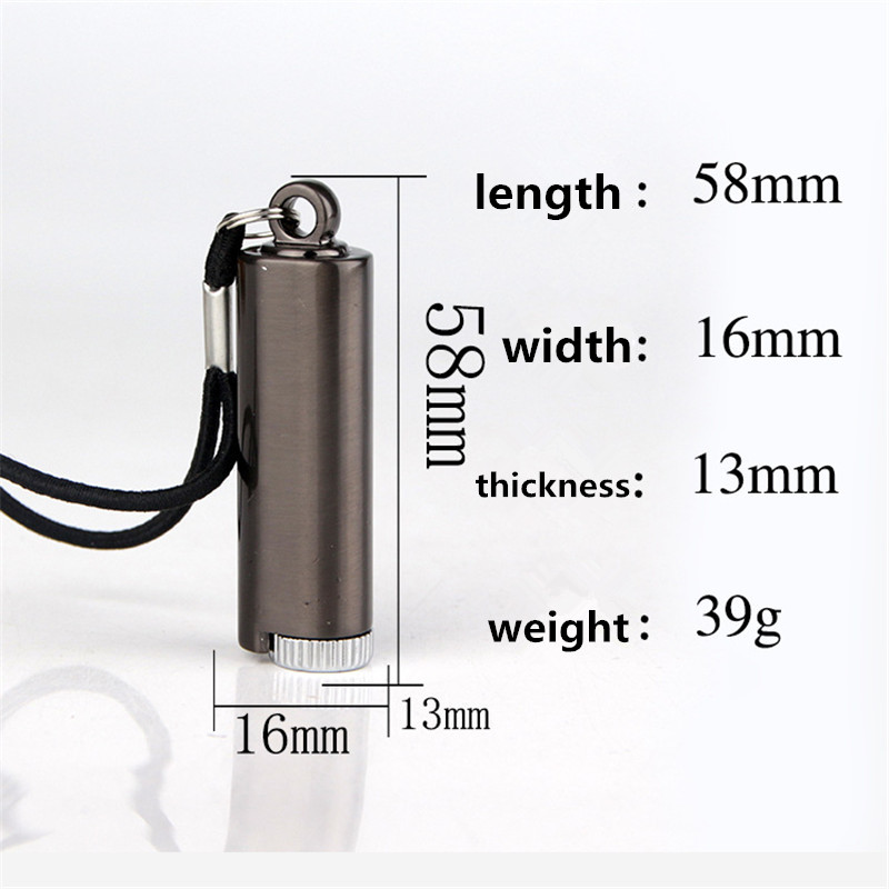 Image 5 - Survival Tool Lighter Kit for Outdoor Keychain Flint Fire Starter Shell Matches Key Chain Portable Bottle Shaped Free Fire-in Matches from Home & Garden