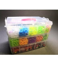 15000pcs Rainbow Rubber Band DIY Craft Toy with Weaving Machine Elastic bracelet Kits Ribbon Knitted Figures Charms Art Craft