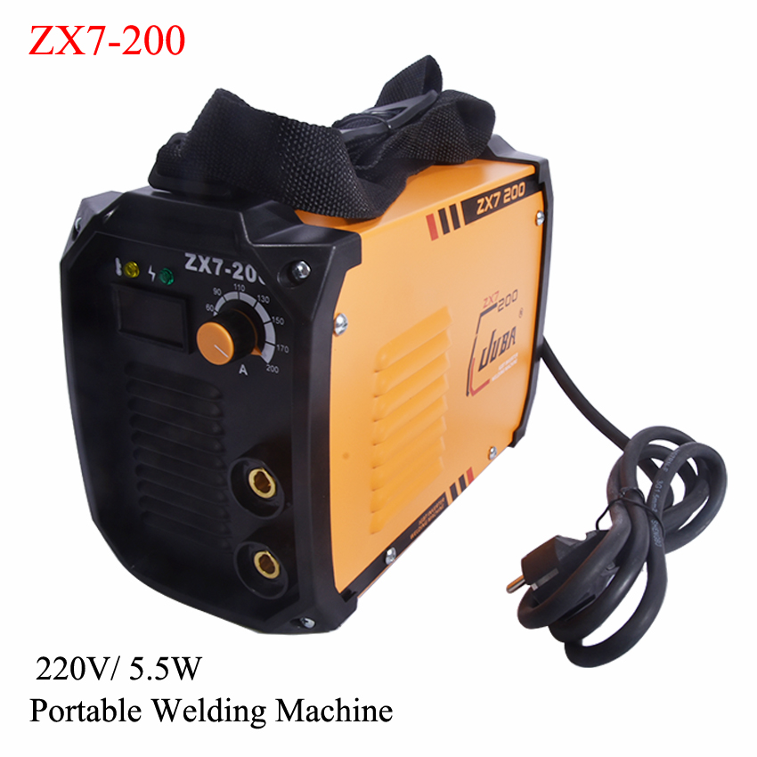 New Portable Welder IGBT Inverter Portable Welding Machine Arc Welder with Electrode Holder And Earth Clamp ZX7-200 5.5KW 220V 200amp 220v welding welder inverter dc electrode arc smaw stick rod igbt zx7 200t