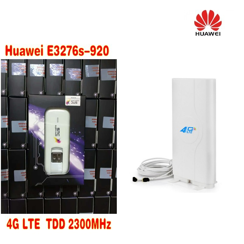 Unlocked Huawei E3276S-920 E3276 4G LTE Modem 150Mbps +49dbi 4G TS9 antenna huawei e5377s 32 150mbps 4g lte 3g wifi mobile broadband hotspot white 4g signal amplifier antenna 49dbi ts9 for huawei e5377