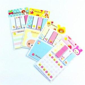 Image 2 - Rilakkuma Bloc de notas de dibujos animados, 20 unidades por lote, Bloc de notas adhesivas, papel extraíble, venta al por mayor