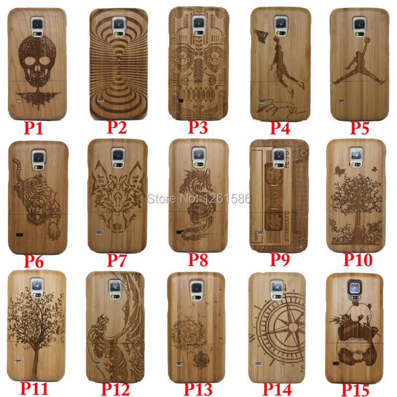 Natural Bamboo NOTE Laser Capa Wood Multi Cases Phone Cover For Samsung Galaxy S8 S7 S6 Edge PLUS S5 Neo S4 MINI A3 A5 2015/5 SE