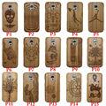 Natural de bambú láser nota capa multi madera casos cubierta del teléfono para samsung galaxy nota 3 s5 s7 s6 edge plus neo s4 s5 mini a3 2015