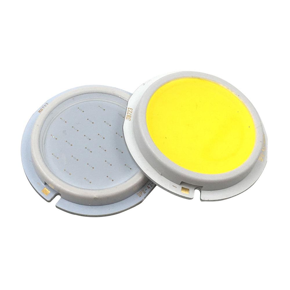 43mm Diameter Round COB LED Cold White  Emitting Color LED Lamp Bulb 3W 9W DC 9V 27V LED Lighting Source For LED Downlight
