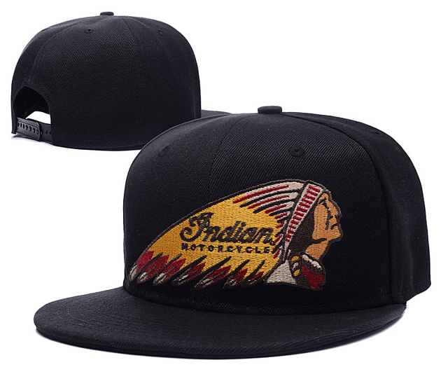 2bc7138b574 Indian Motorcycle Logo Indian Motorcycle Adjustable Snapback Dark Horse  Embroidery Hats Caps