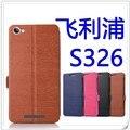 Para a Philips S326 proteger conjuntos de telefone de couro do caso da aleta para Philips S326 shell por frete grátis