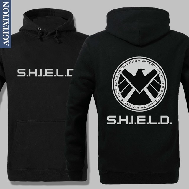 Avengers 3 Shield Innings S.H.I.E.L d. Join Superman Captain America  Fir Fashion  Brand Men Hoodies Cotton Wool